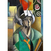 Woman with a Fan 1913 Painting by Jean Metzinger
